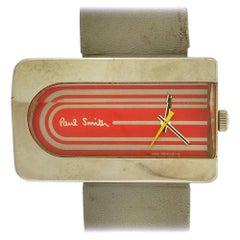 Paul Smith stainless steel asymmetrical Vintage Quartz Wristwatch, circa 1980
