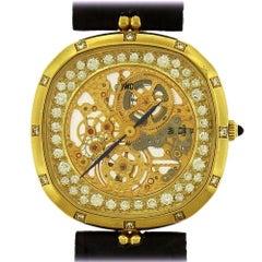 IWC Skeletonized Diamond Wristwatch