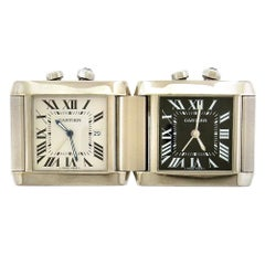 Cartier Tank Francaise GMT Night/Day Travel Clock