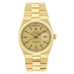 Rolex Yellow Gold OysterQuartz Day-Date Wristwatch Ref. 19018