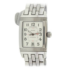 Jaeger LeCoultre Stainless Steel Gran' Sport Reverso Automatic Wristwatch