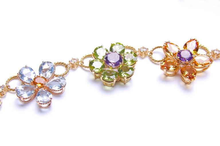 Dolce & Gabbana Multi-Gem-Set Floral Clusters Necklace 5