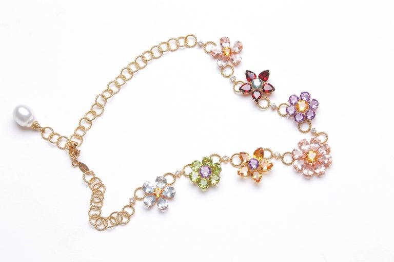 Dolce & Gabbana Multi-Gem-Set Floral Clusters Necklace 7