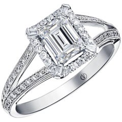 Clarence Emerald Cut Ring