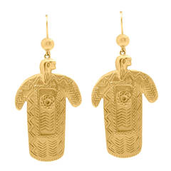 Lalaounis Gold Figural Ear Pendants