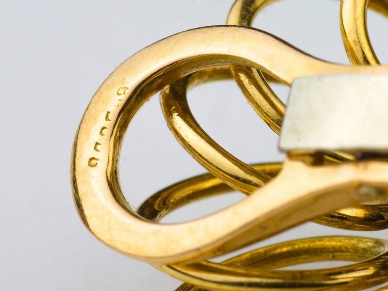1950s French Emerald Diamond Gold Tassel Earpendants 6
