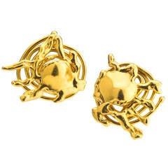 Jean Mahie Free Form Gold Earclips