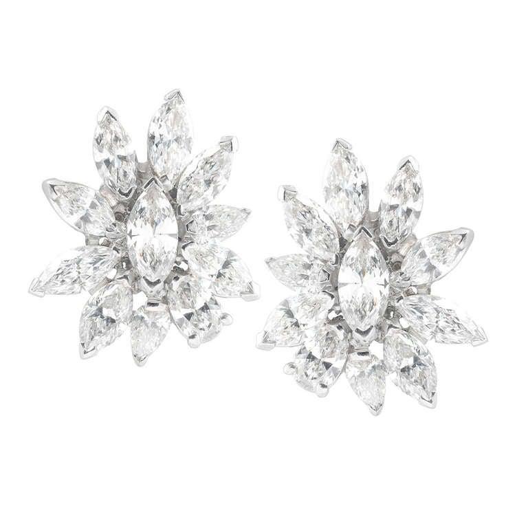 1960's Diamond Earclips