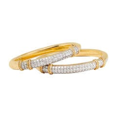 Diamond Bangle Bracelets by Fred Paris
