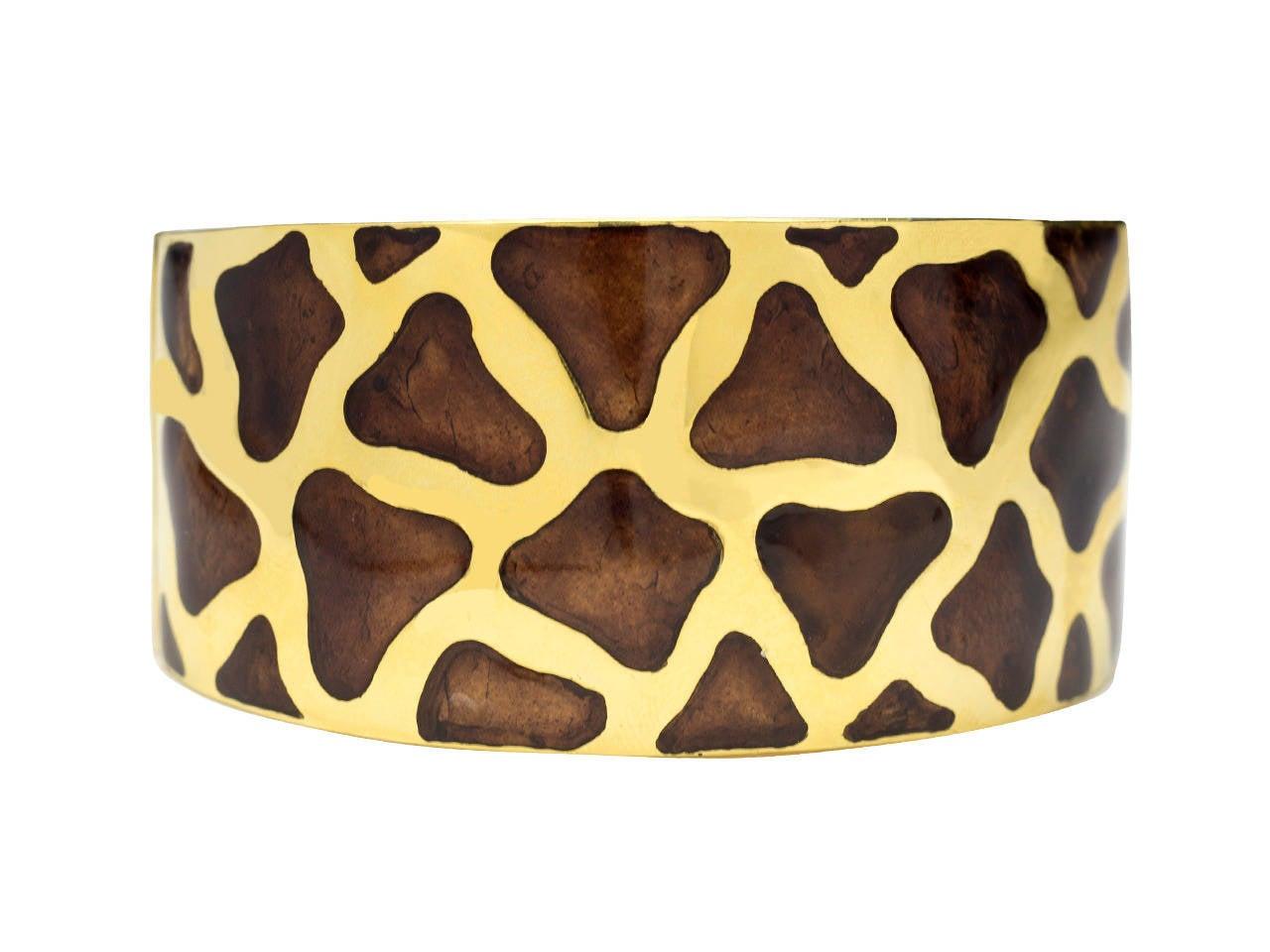 Roberto Coin Enamel Gold Giraffe Motif Bracelet And Earrings Set 2