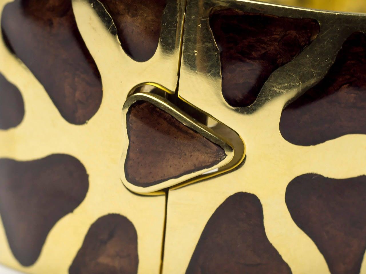 Roberto Coin Enamel Gold Giraffe Motif Bracelet And Earrings Set 3