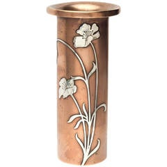 Art Nouveau Mixed Metal Vase by Heintz