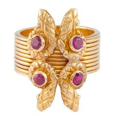 Lalaounis Ruby Snake Ring