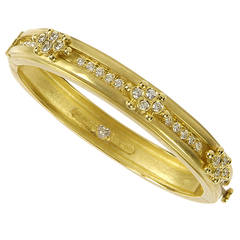 Stambolian Diamond Gold Bangle Bracelet