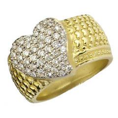 Stambolian Diamond Gold Heart Ring