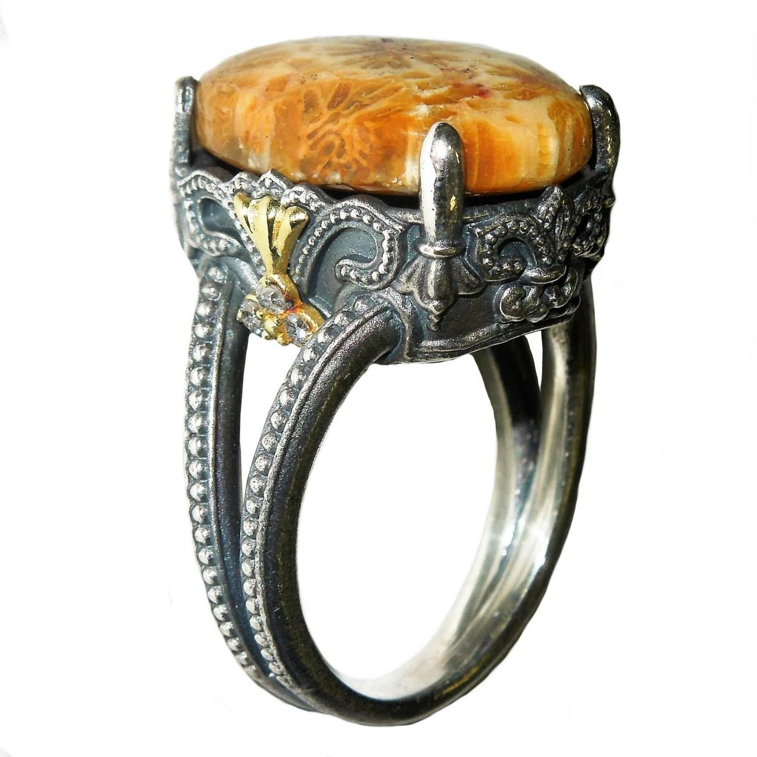 Fossil Engagement Ring