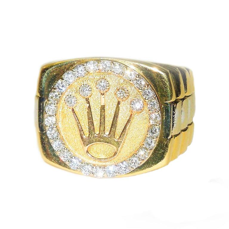 gold small crown ring for sale at 1stdibs