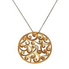 Diamond Gold Pendant with Chain