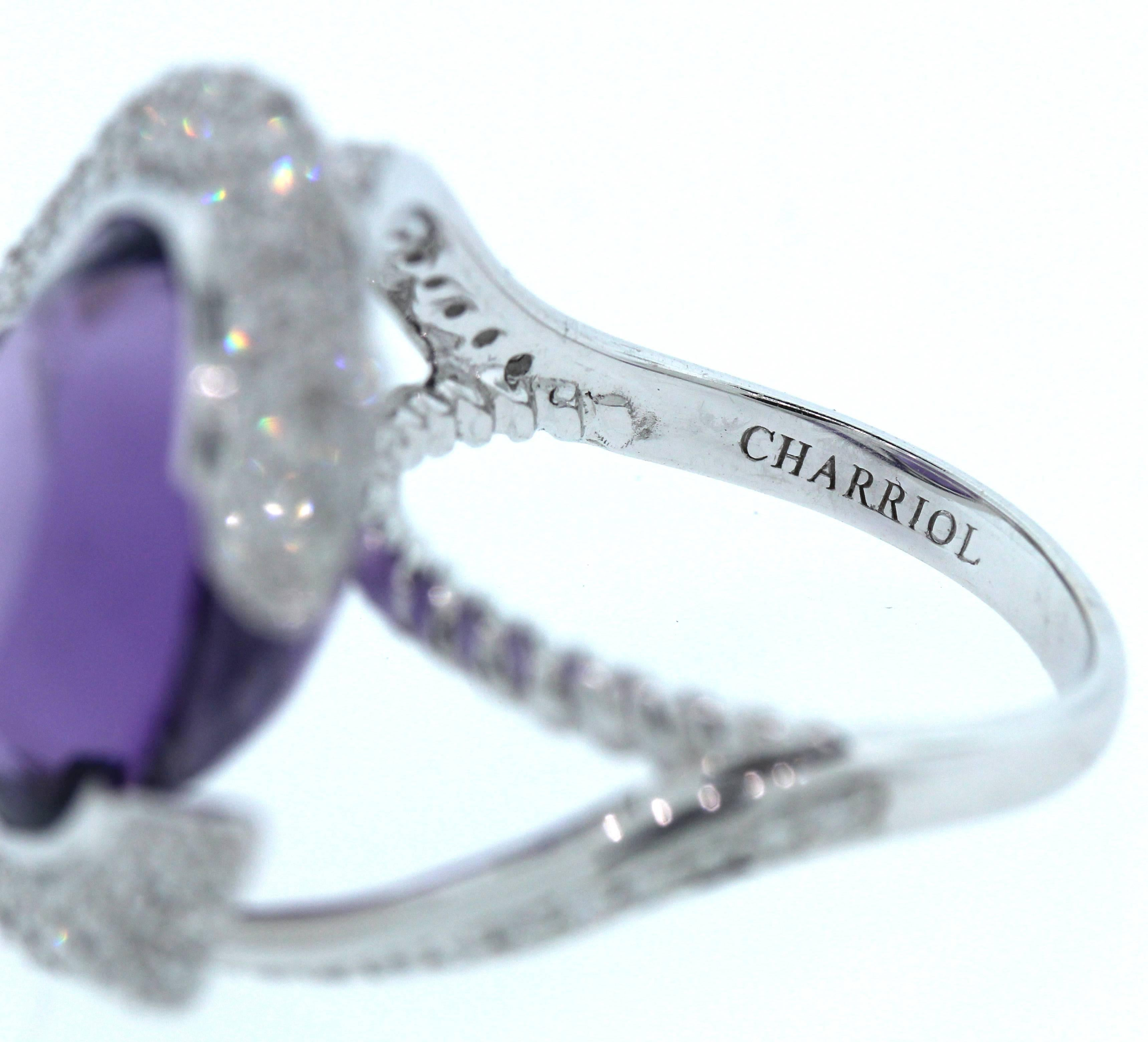 Charriol Amethyst Diamond Gold Ring For Sale at 1stdibs