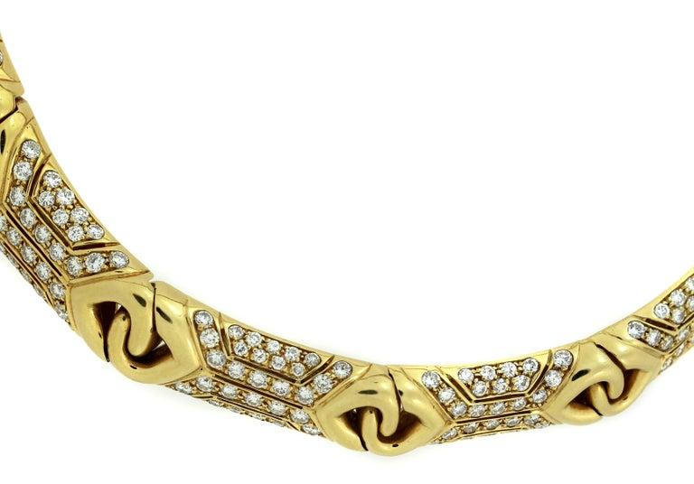 Bulgari Yellow Gold and Diamond Collar Necklace 4