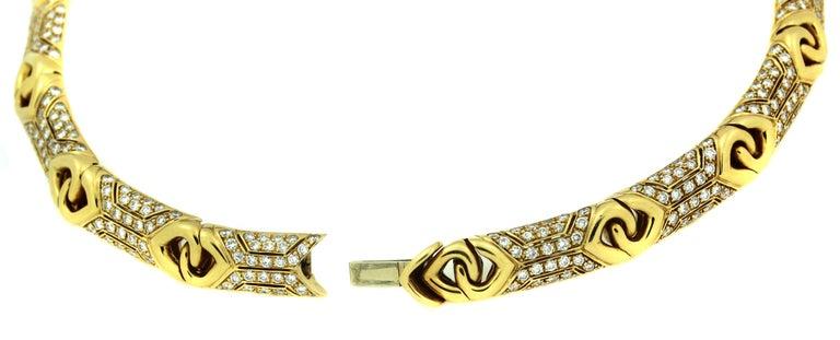 Bulgari Yellow Gold and Diamond Collar Necklace 6