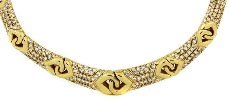 Bulgari Yellow Gold and Diamond Collar Necklace 3