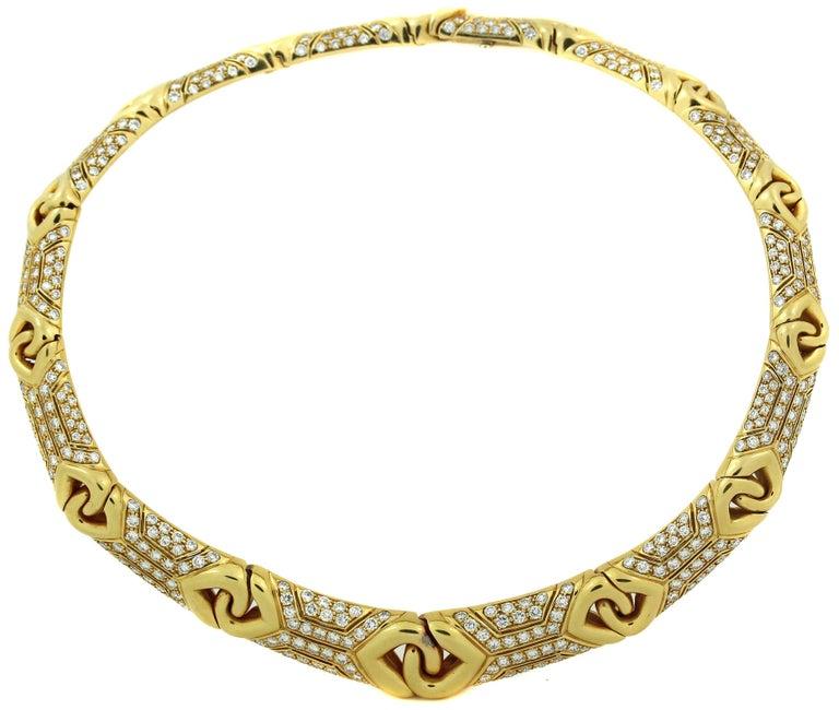 Bulgari Yellow Gold and Diamond Collar Necklace 2