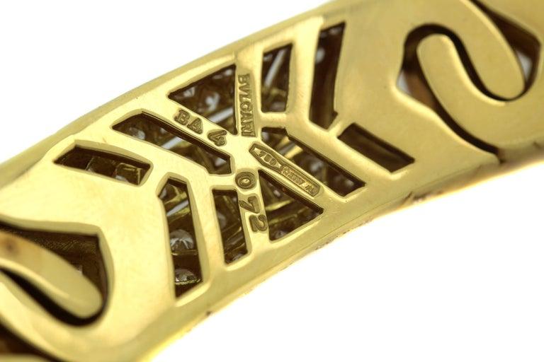 Bulgari Yellow Gold and Diamond Collar Necklace 8
