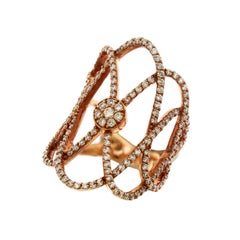 Rose Gold and Diamond Entwined Ring