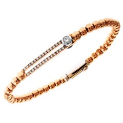 Rose Gold and Diamond Bracelet with Sliding Diamond