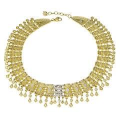 Stambolian Diamond Gold Handwoven Karizma Necklace