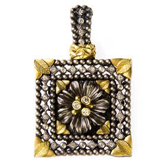 Stambolian Diamond Silver Gold Enhancer Pendant