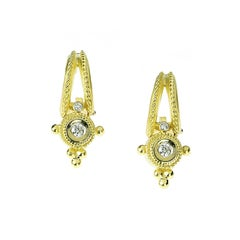 Stambolian Gold and Diamond Drop Earrings