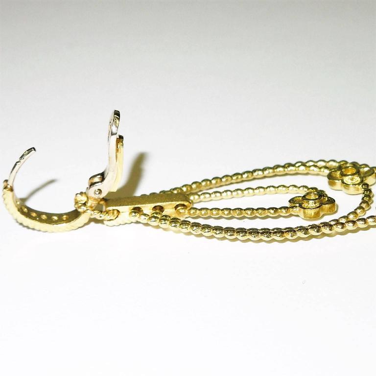 Stambolian Diamond Gold Flower Earrings For Sale At 1stdibs