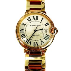 Cartier Rose Gold Ballon Bleu automatic Wristwatch