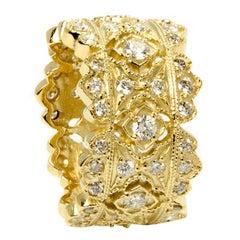 Stambolian Diamond Gold Band Ring