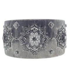 Buccellati White Gold and Diamond Cuff Bracelet