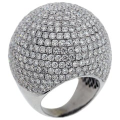White Gold and Diamond Dome Ring