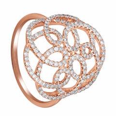159 White Diamond 0.55 Carat  18 Karat Rose Gold Ring