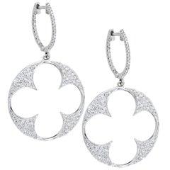 White Diamonds White Gold Earrings