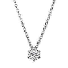 Carlos Udozzo Ladies GIA Certified 18 Karat White Gold Diamond Necklace