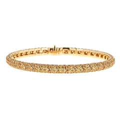 10.56 Carat Yellow Sapphire Yellow Gold Bracelet