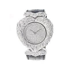 Piranesi White Gold 3.93 Carat Diamond Wristwatch