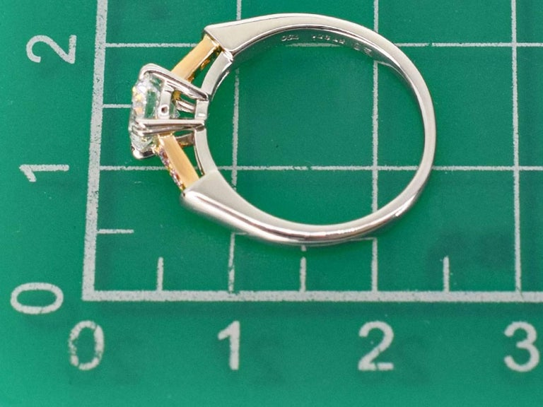 Harry Winston GIA Diamond 0.70 Carat D-VS2-Ex 950 Platinum Gold Tryst Ring For Sale 2