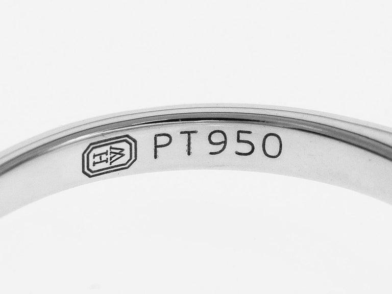 Women's Harry Winston Solitaire 0.57 Carat Round Brilliant Diamond Platinum Ring For Sale