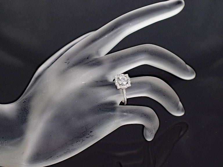 Harry Winston Diamond Platinum Belle by Harry Winston Micropavé Ring US 3.5 For Sale 5