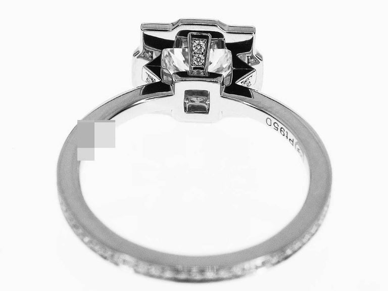 Women's Harry Winston Diamond Platinum Belle by Harry Winston Micropavé Ring US 3.5 For Sale