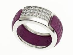 Patek Philippe Rubber 18 Karat White Gold Aquanaut Luce Diamond Ring