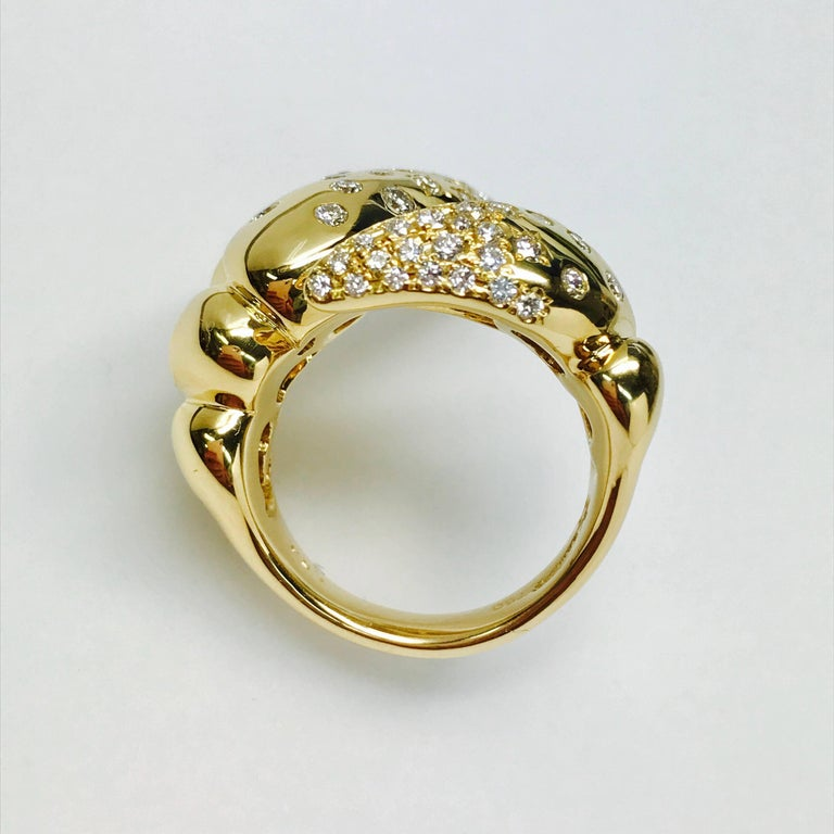 6ff40a7b0ec65 Latreia by Mana Matsuzaki Big Claw Diamond Unisex Ring in 18 Karat YG