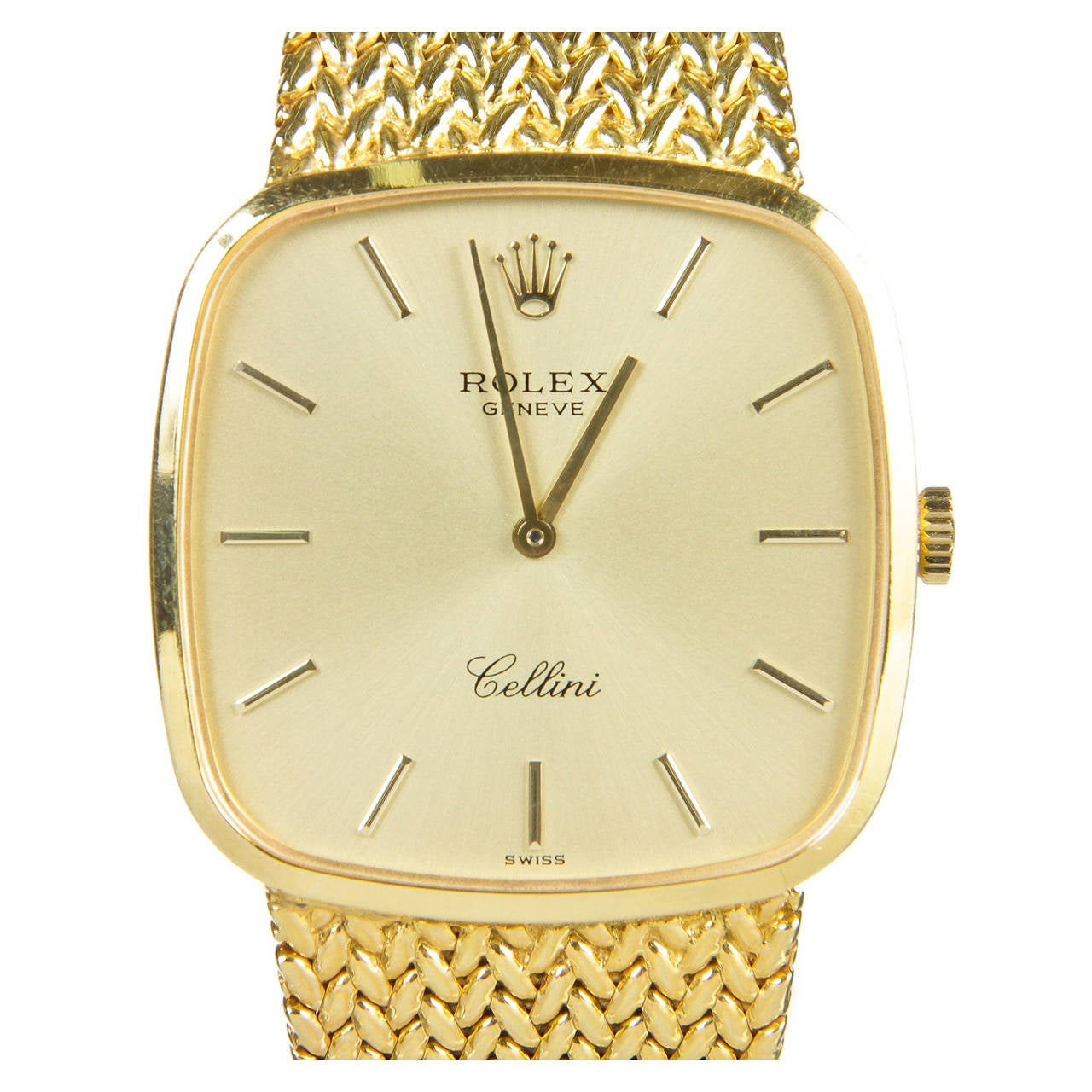Rolex Cellini Gold With Diamonds